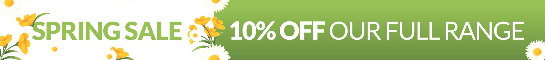 Spring 10%off sale